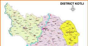 Kotli District AJK - Map.