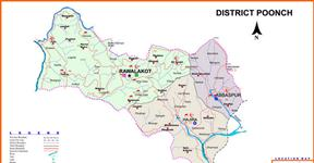 Poonch District AJK Map