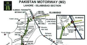 Motorway M2 Map