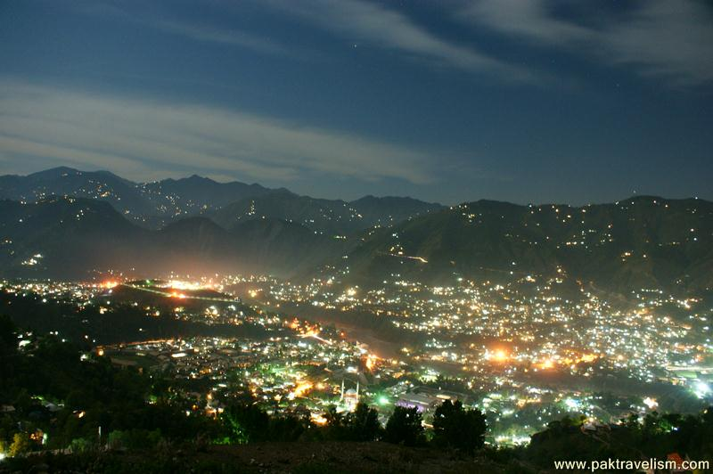 Muzaffarabad City View at Night